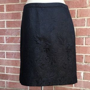 JADE Melody Tam Black Embossed Skirt